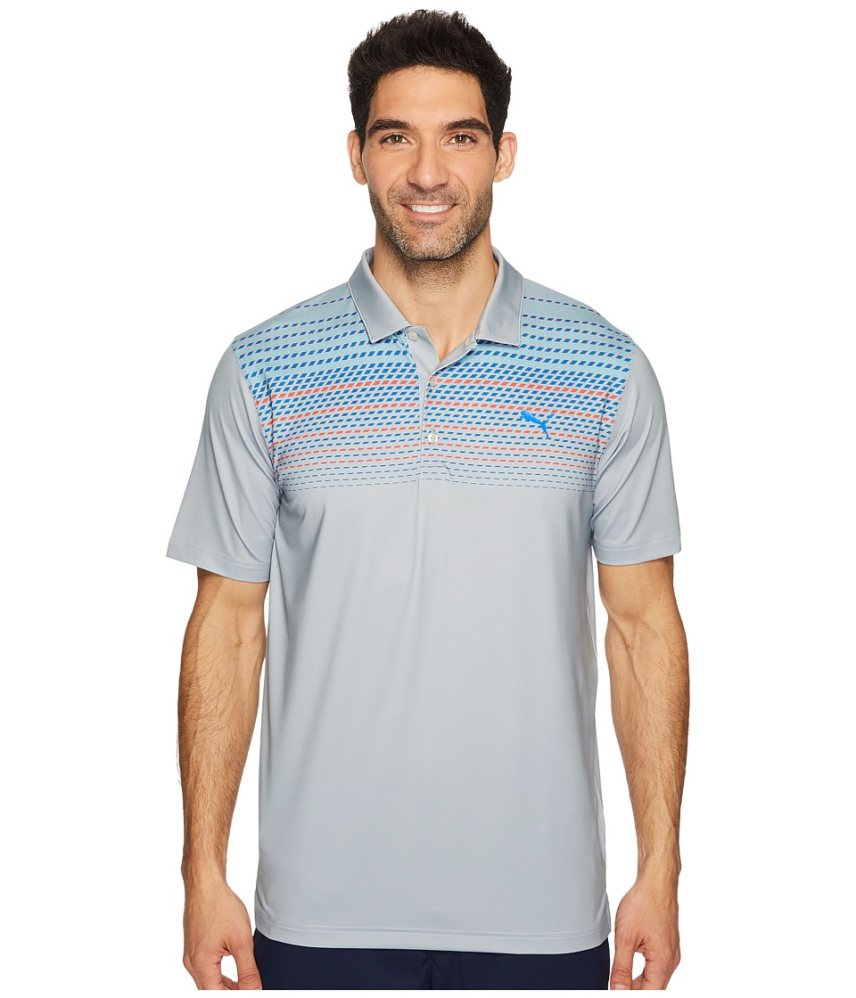 PUMA Golf - Sportstyle Road Map Polo (Quarry) Men's Short Sleeve Knit