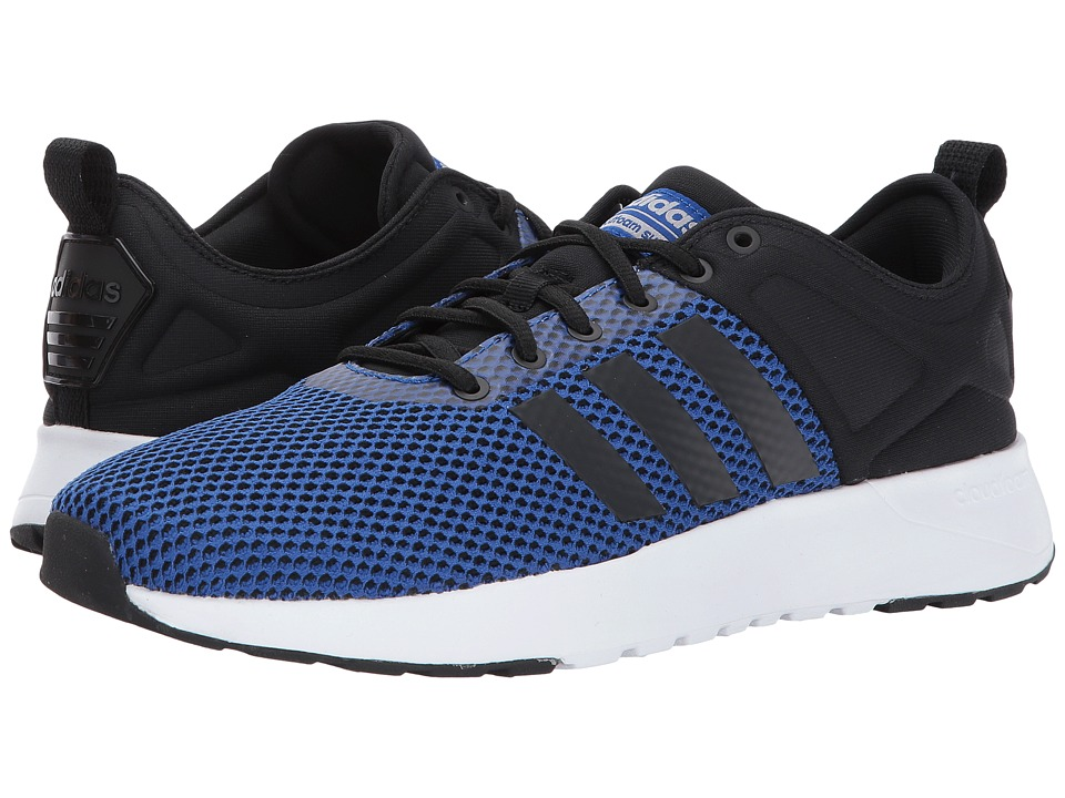 adidas - Cloudfoam Super Racer (Core Black/Core Black/Collegiate Royal) Men's Running Shoes