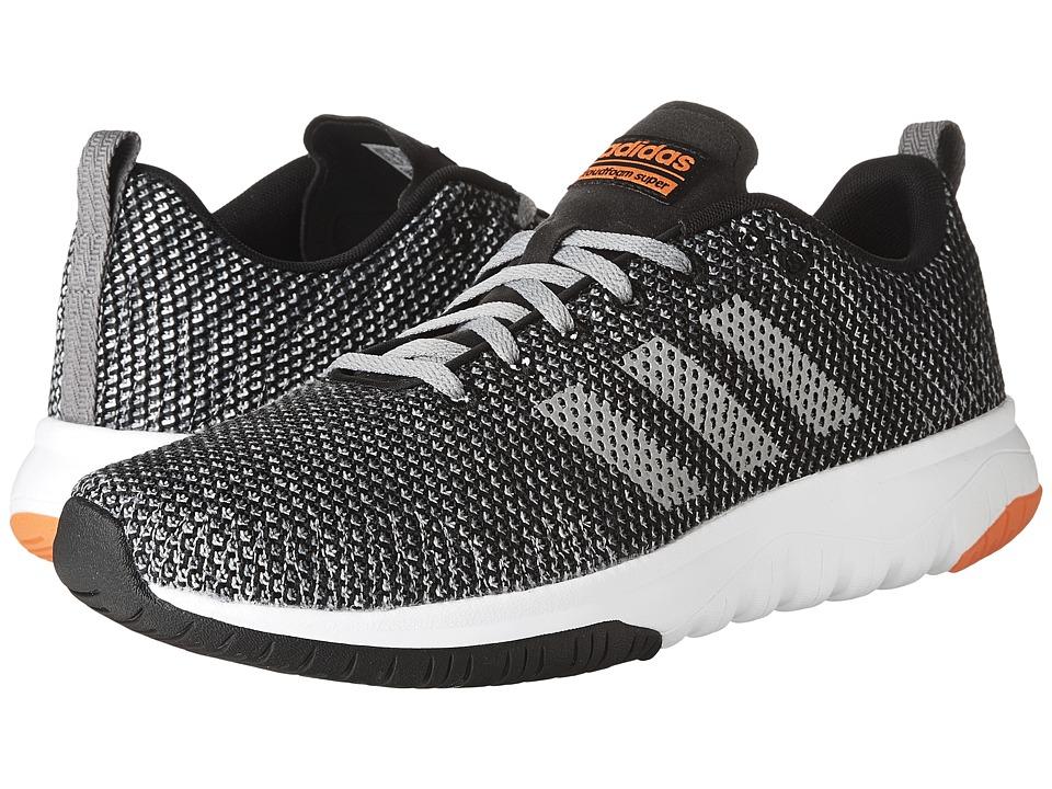 adidas - Cloudfoam Super Flex (Core Black/Grey Three/Solar Red) Men's Running Shoes