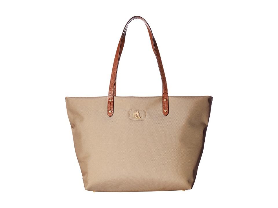 LAUREN Ralph Lauren - Bainbridge Tote (Khaki) Tote Handbags