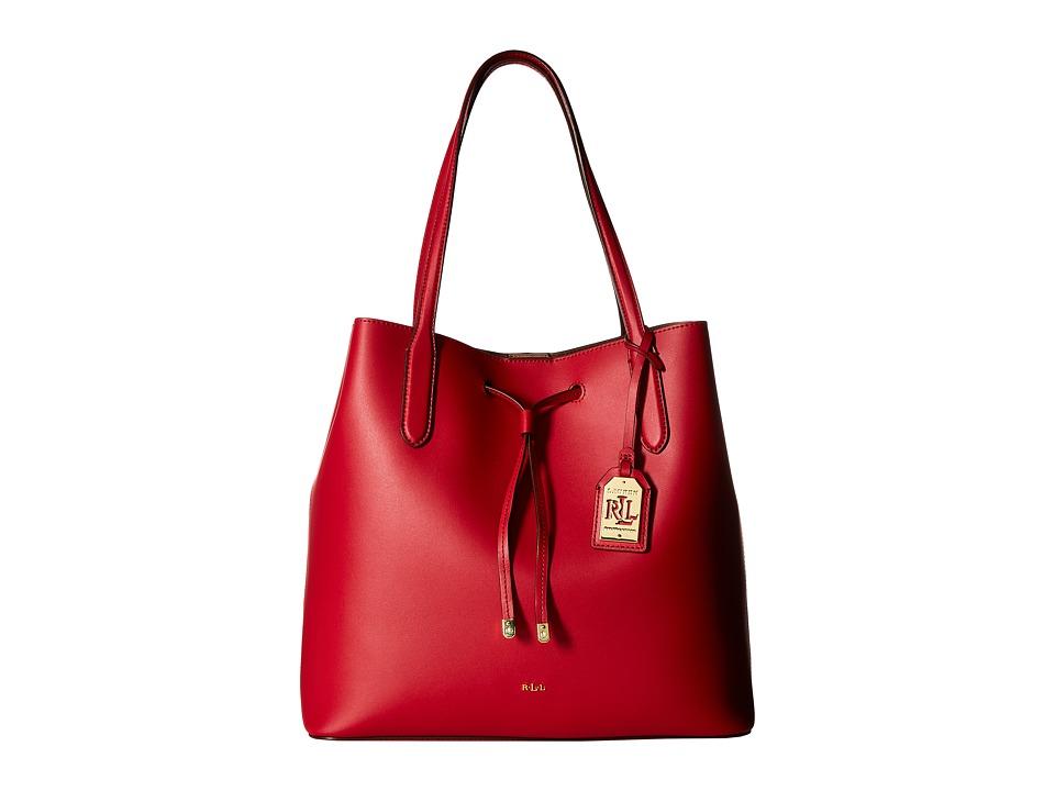 LAUREN Ralph Lauren - Dryden Diana Tote (Crimson/Truffle) Tote Handbags