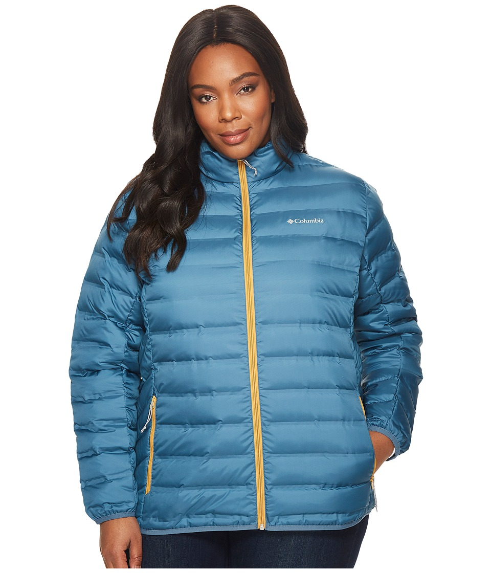 Columbia Plus Size Lake 22 Jacket (Blue Heron/Pilsner) Women