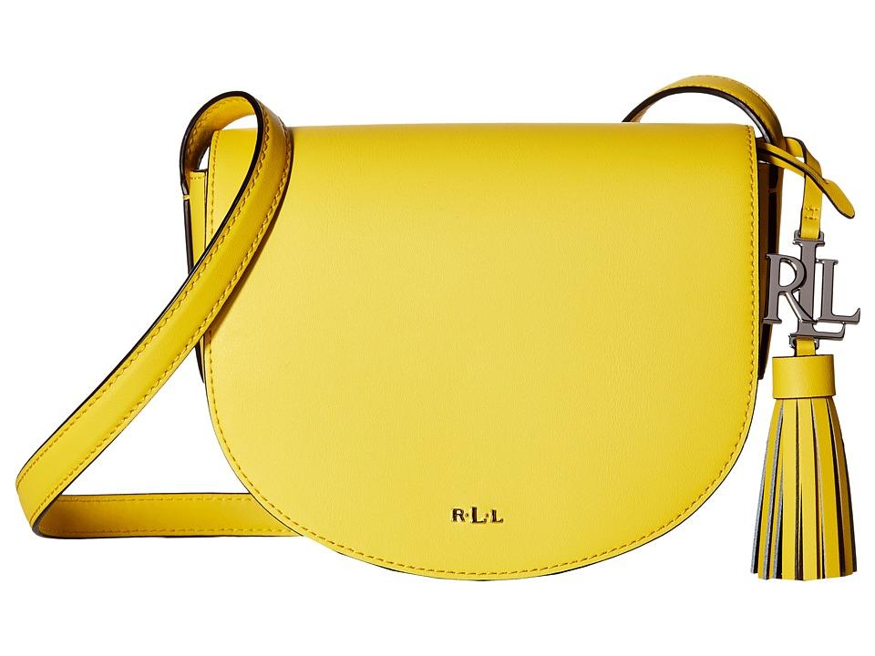 LAUREN Ralph Lauren - Dryden Caley Mini Saddle (Dandelion/Black) Handbags