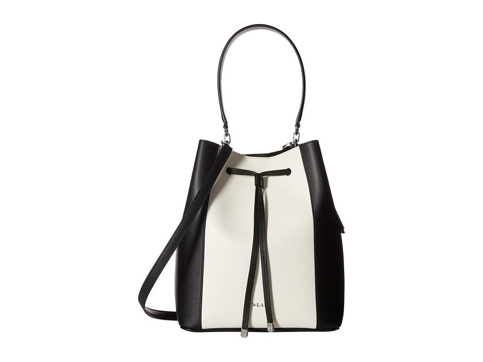 LAUREN Ralph Lauren - Dryden Debby Drawstring (Black/Vanilla) Drawstring Handbags