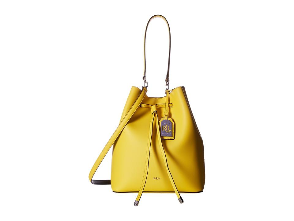 LAUREN Ralph Lauren - Dryden Debby Drawstring (Dandelion/Black) Drawstring Handbags
