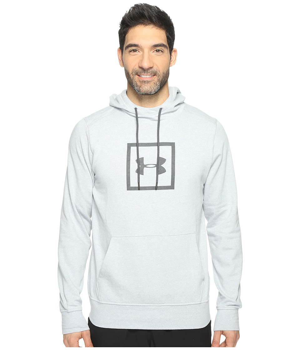 Under Armour - Tri-Blend Squared Logo Popover (Air Force Gray Heather) Men's Clothing