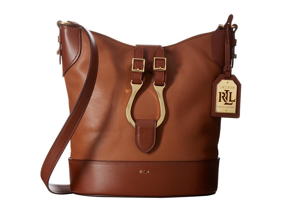 LAUREN Ralph Lauren - Dorrington Caden Crossbody (Tan/Lauren Tan) Cross Body Handbags