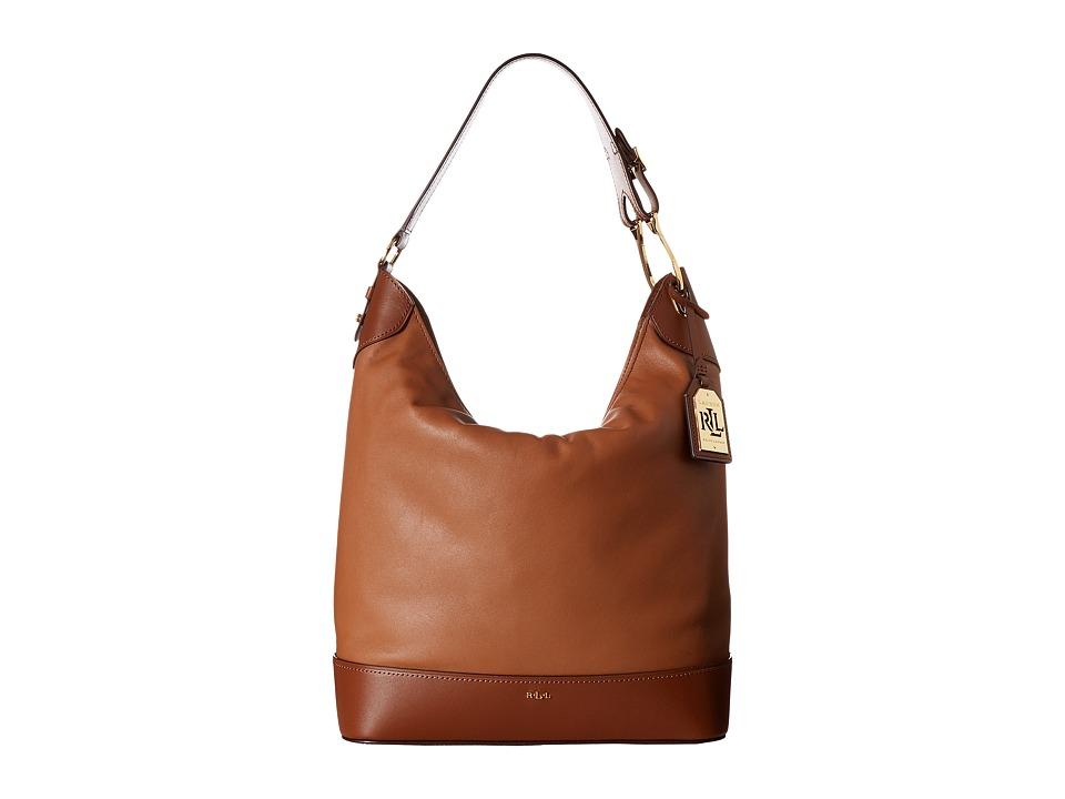 LAUREN Ralph Lauren - Dorrington Carissa Hobo (Tan/Lauren Tan) Hobo Handbags