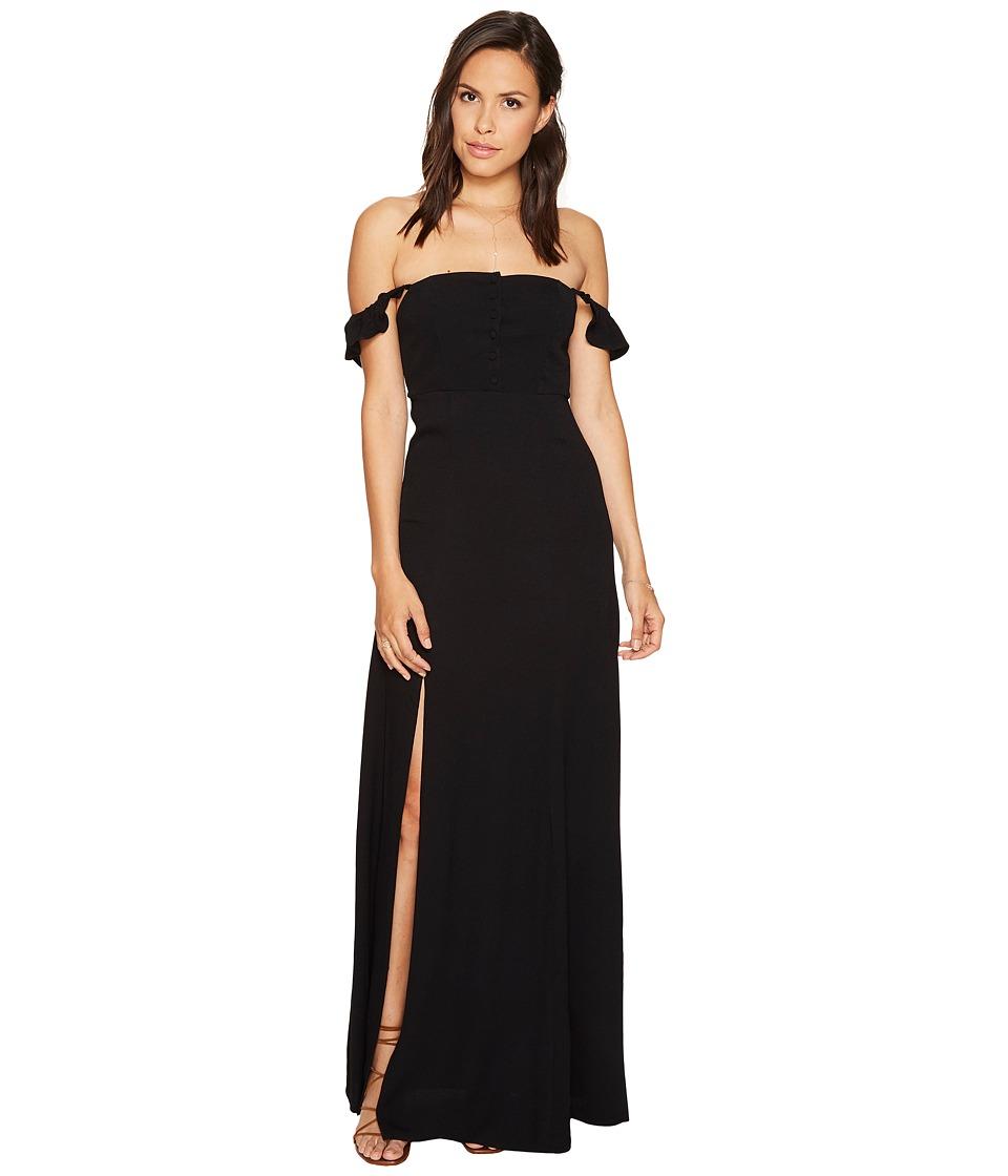Flynn Skye - Bardot Maxi Dress (Black) Women's Dress