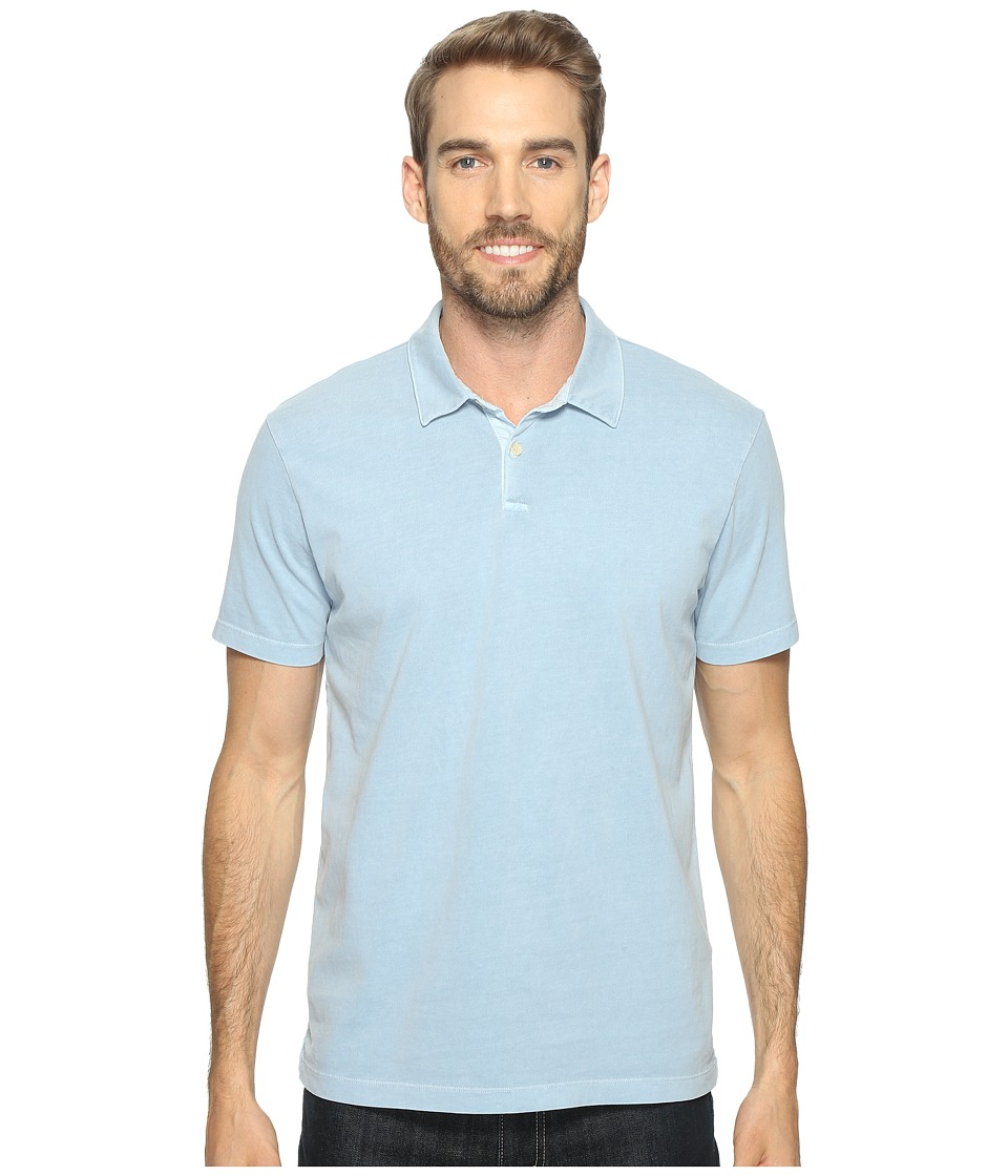 Lucky Brand - Sueded Polo (Dusty Blue) Men's Clothing