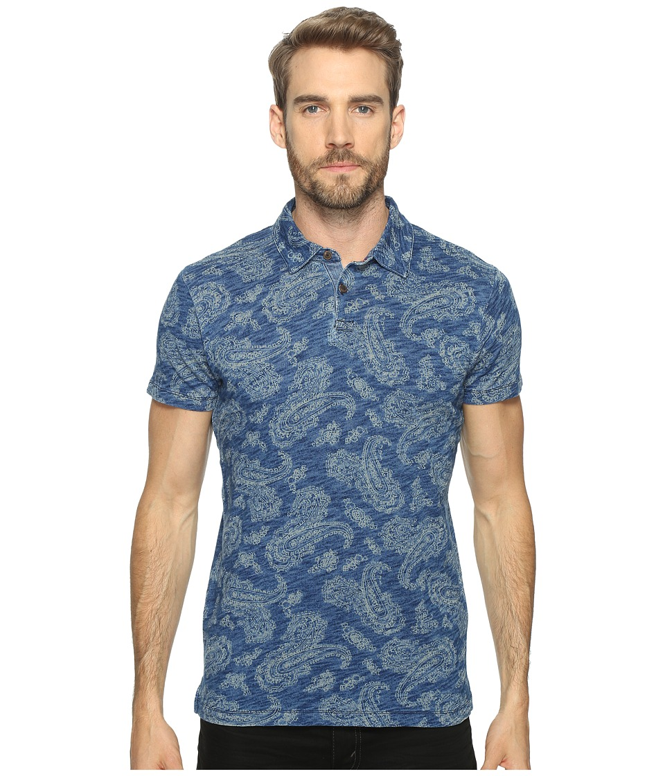 Lucky Brand - Indigo Polo (Printed Indigo) Men's Clothing