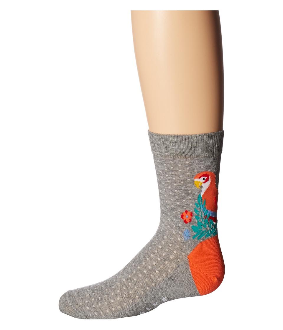 Falke - Parrot Anklet (Toddler/Little Kid/Big Kid) (Light Grey) Crew Cut Socks Shoes