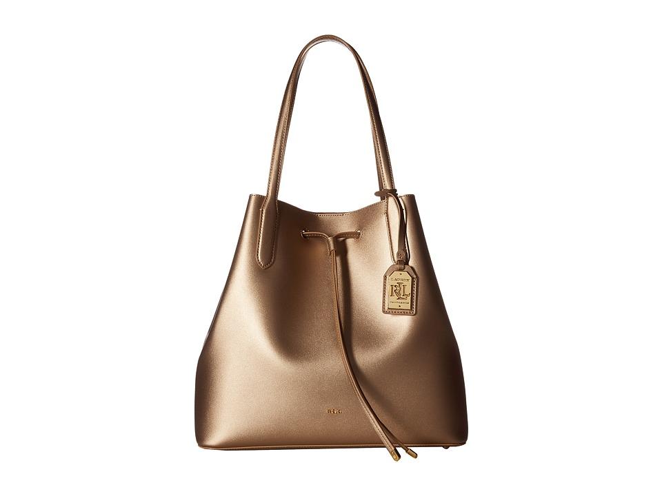 LAUREN Ralph Lauren - Dryden Diana Tote (Gold/Birch) Tote Handbags