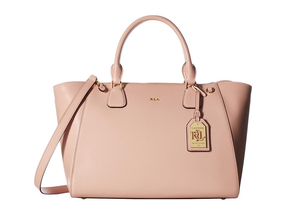 LAUREN Ralph Lauren - Newbury Stefanie Satchel (Blush) Satchel Handbags