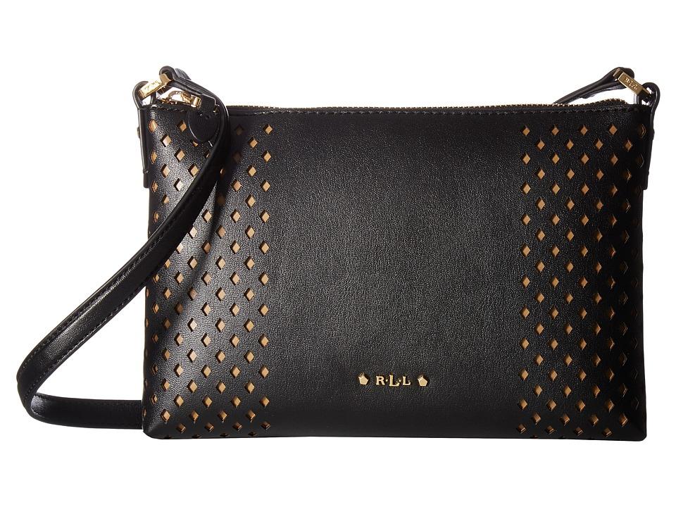 LAUREN Ralph Lauren - Lauderdale Tasmine Crossbody (Black) Cross Body Handbags
