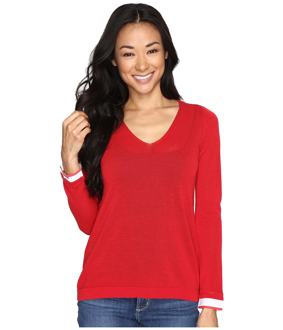 NYDJ Petite - Petite Twofer Sweater (Red Ribbon) Women's Clothing