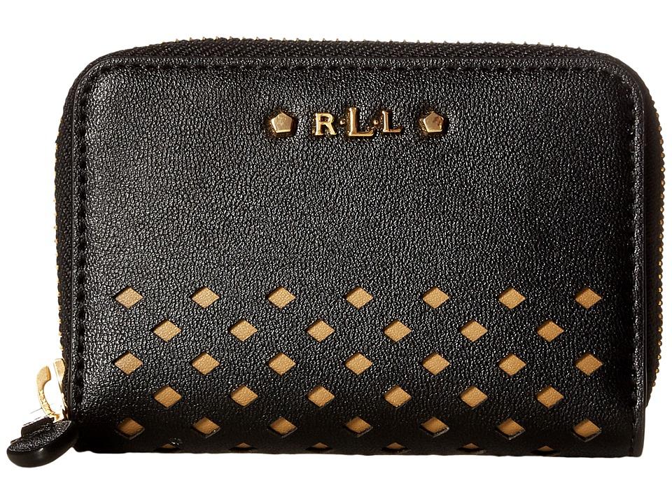 LAUREN Ralph Lauren - Lauderdale Zip Card Case (Black) Credit card Wallet