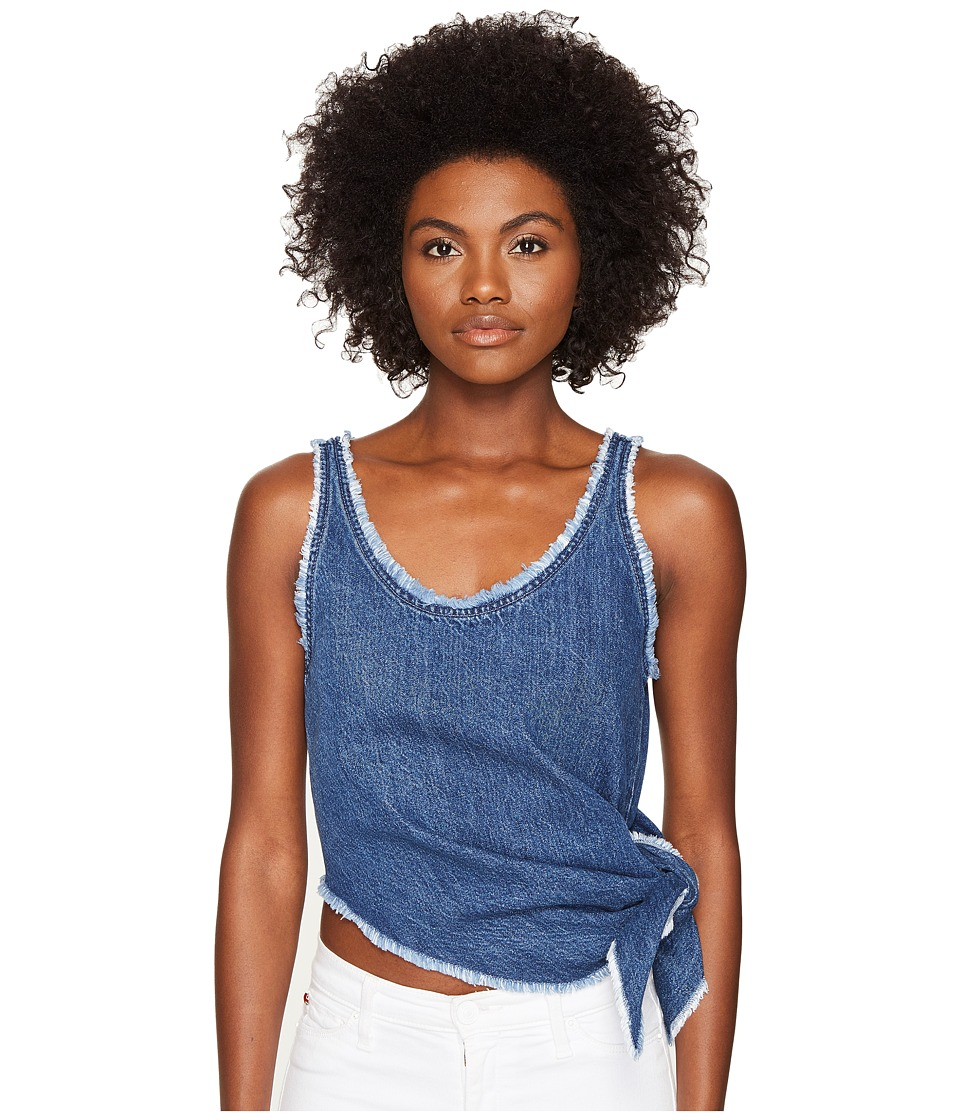 McQ - Knot Top (Mid Blue) Women's Sleeveless