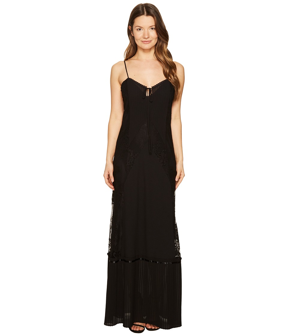 McQ - Long Lace Slip Dress (Black) Women's Dress