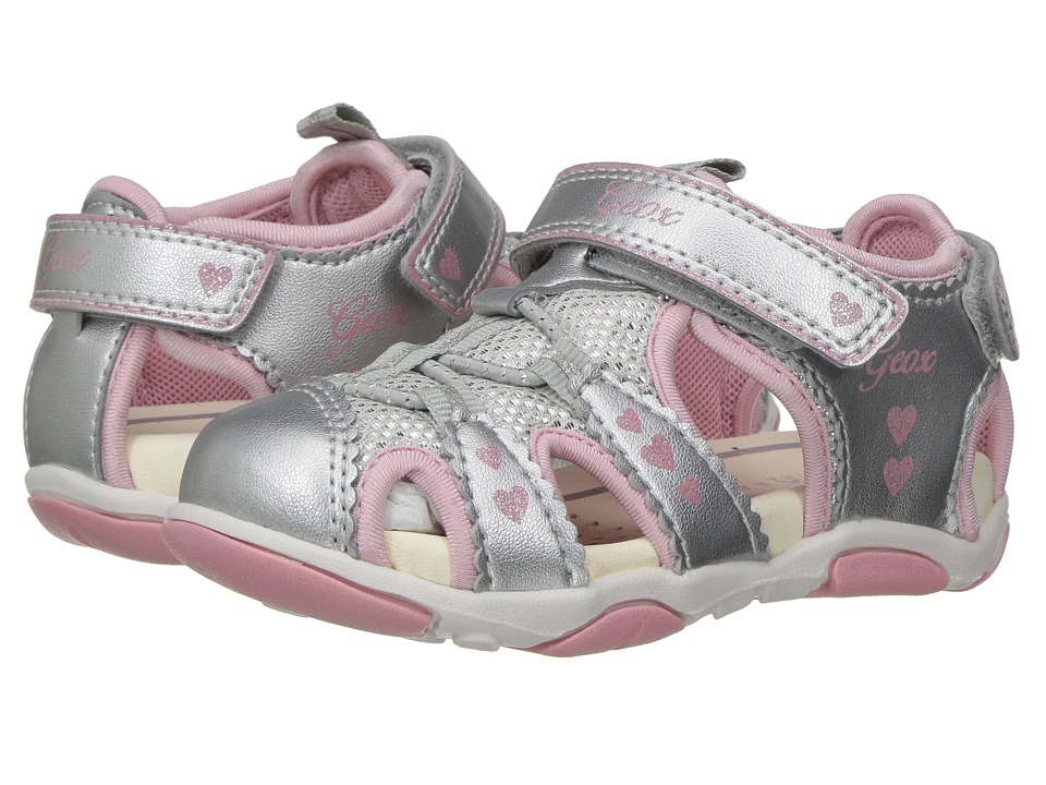 Geox Kids - Jr Sandal Agasim 1 (Toddler) (Silver) Girls Shoes