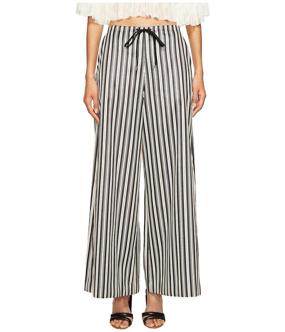 McQ - Super Kick Flare Pants (Striped Black/White) Women's Casual Pants