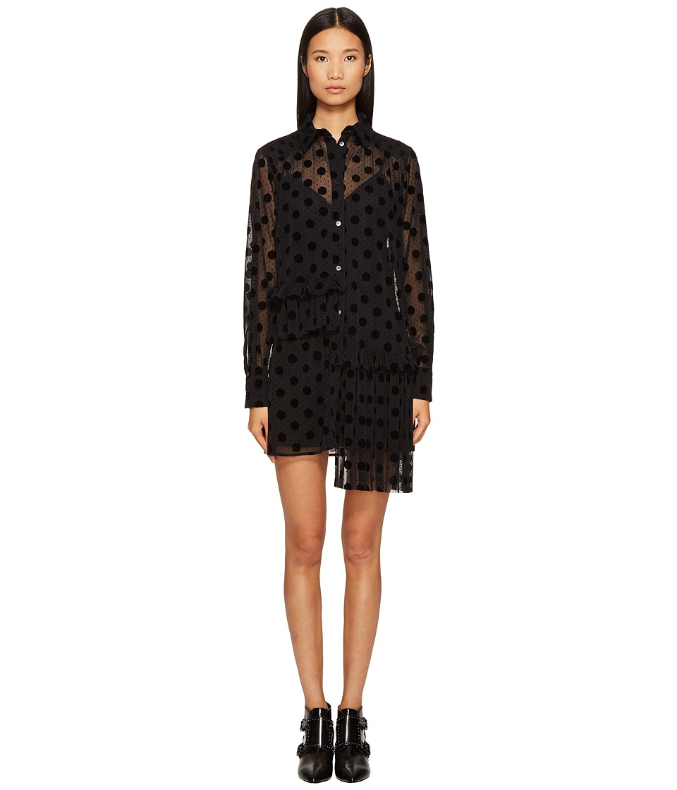 McQ - Decon Ruffle Tunic (Black) Women's Clothing