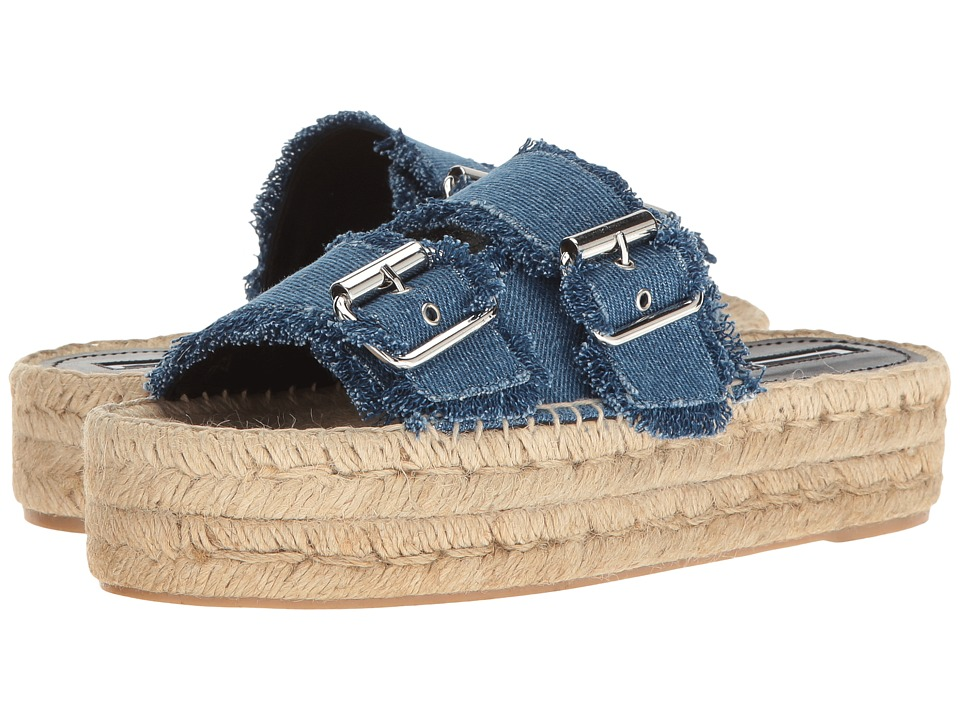 McQ - Ewa Slide (Mid Blue) Women's Sandals