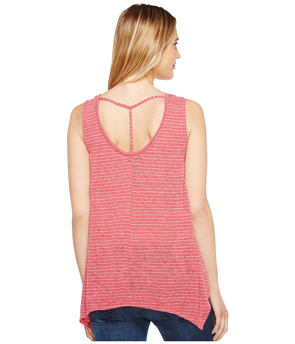 B Collection by Bobeau - Montana Scoop Neck Tank Top (Raspberry Stripe) Women's Sleeveless