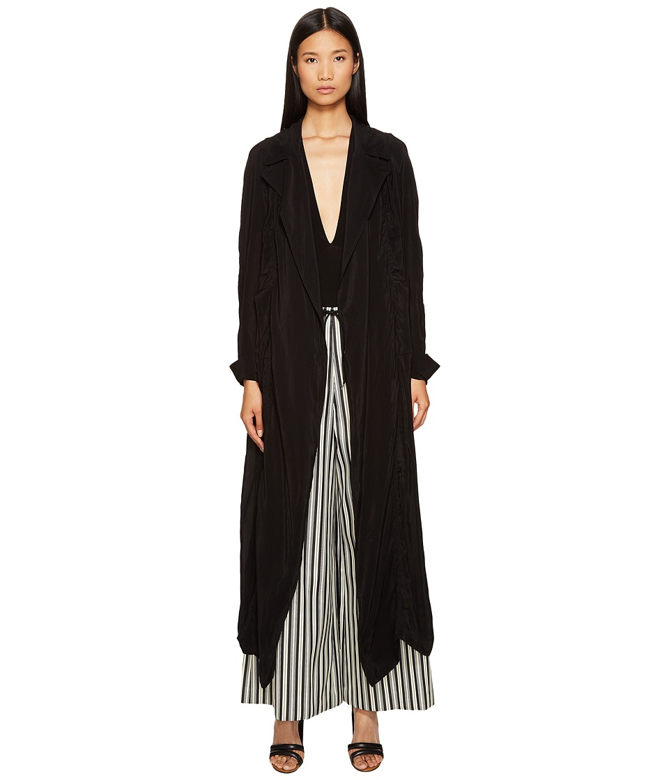 McQ - Transparent Coat (Black) Women's Coat
