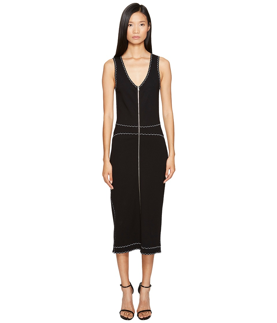 McQ - Contrast Tank Dress (Darkest Black) Women's Dress