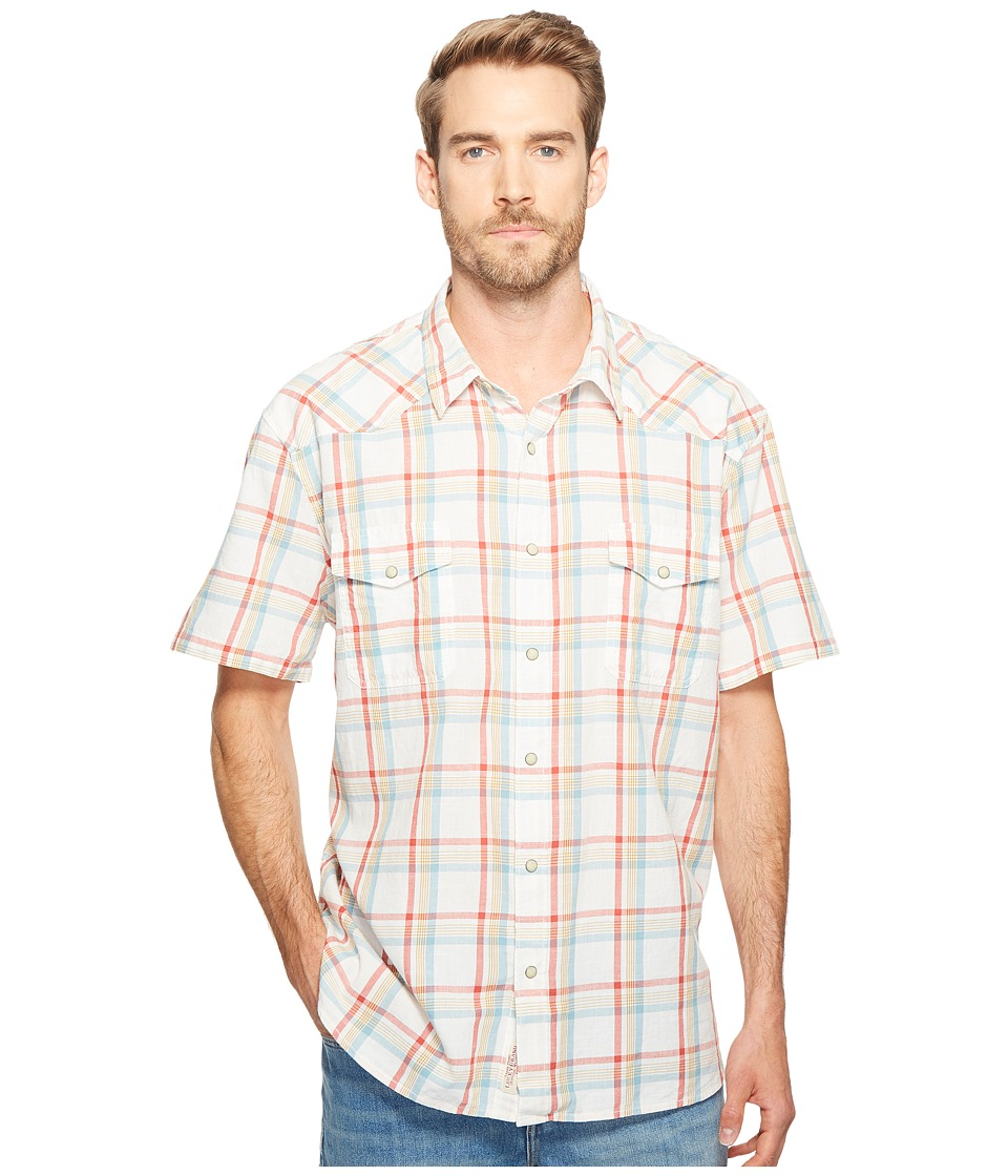 Lucky Brand - San Berdu Western Shirt (Blue/Gold/Orange) Men's T Shirt