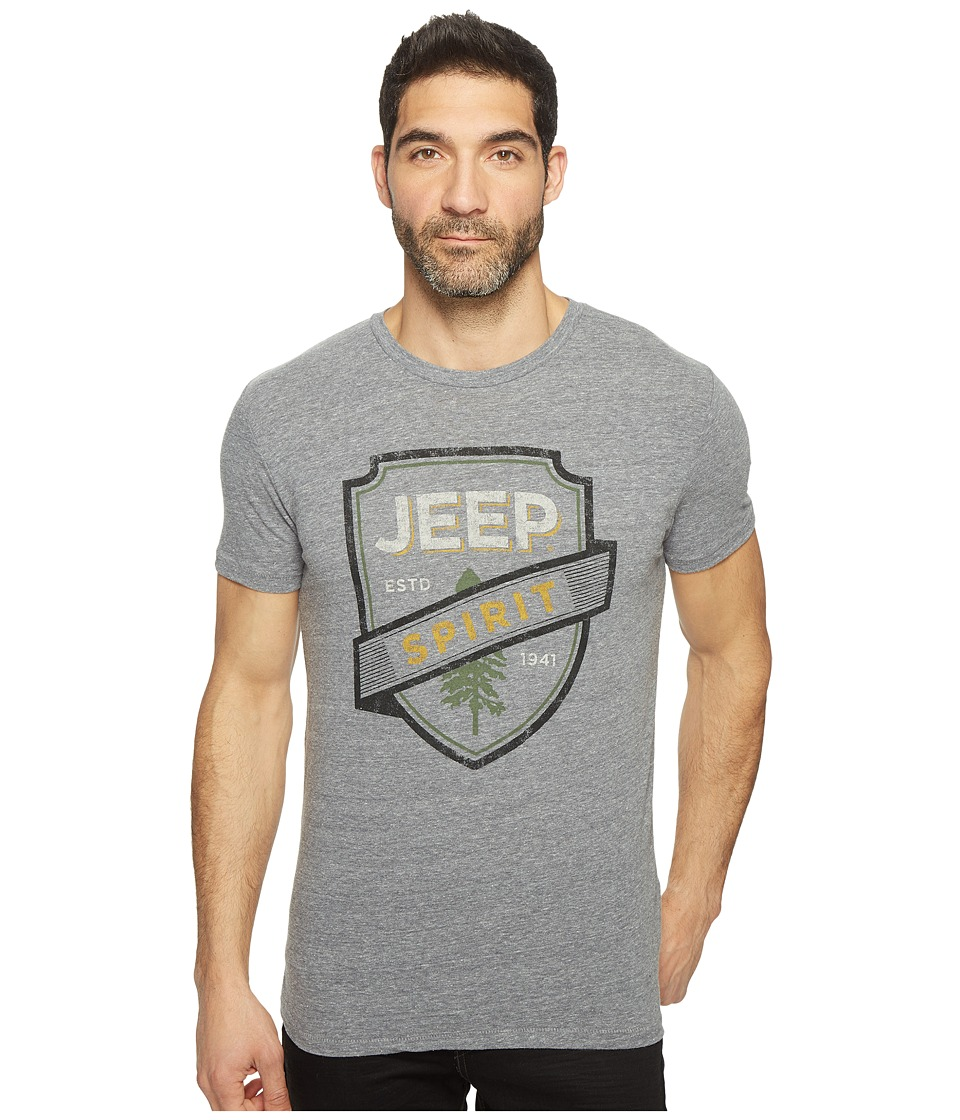 Lucky Brand - Jeep Spirit Graphic Tee (Heather Grey Tri-Blend) Men's T Shirt