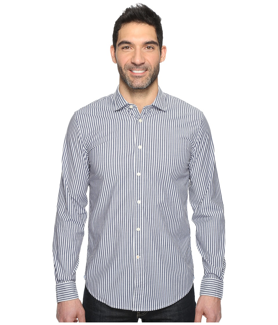 Dockers Premium - Refined Poplin Slim Fit (Cruz Medieval Blue Stripe) Men's Clothing