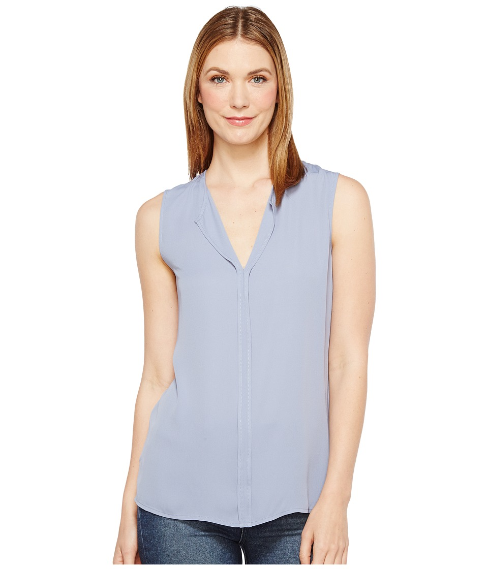 B Collection by Bobeau - Lily Pleat Back Woven Tank Top (Blue) Women's T Shirt