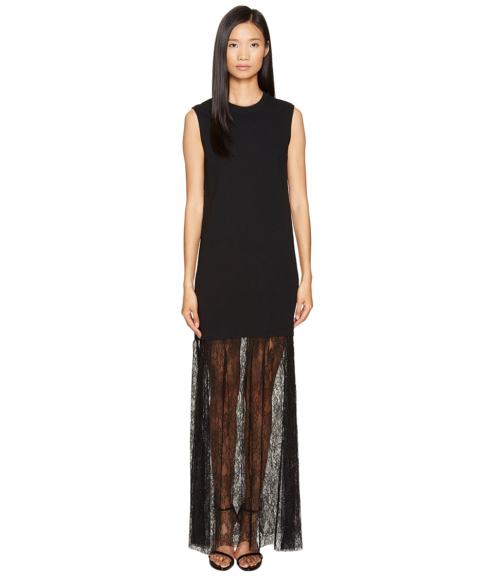 McQ - Lace Mix Maxi Dress (Darkest Black) Women's Dress