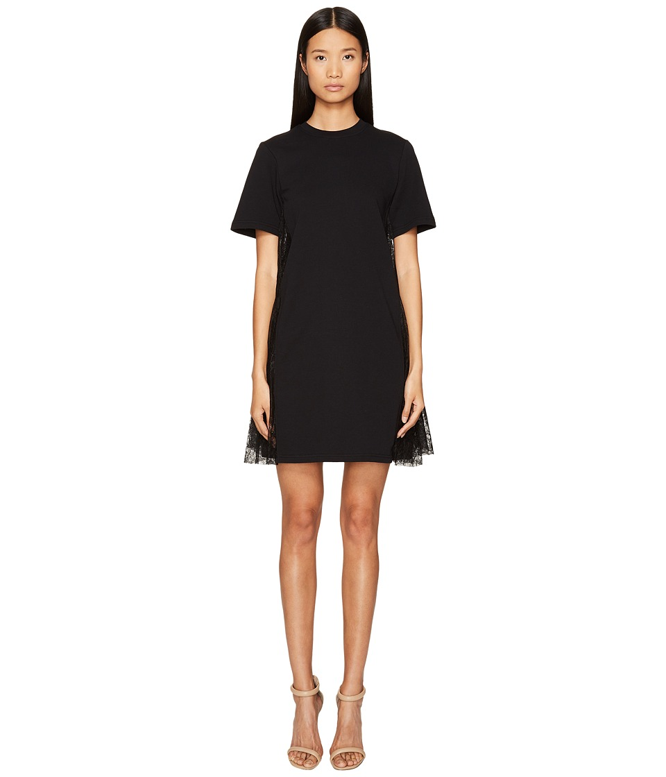 McQ - Flared Insert Dress (Darkest Black) Women's Dress