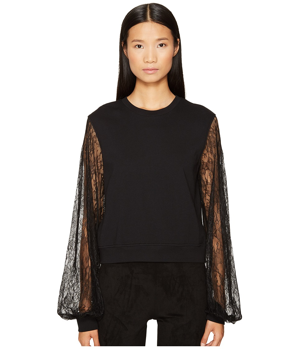 McQ - Volume Sleeve Sweat (Darkest Black) Women's Clothing