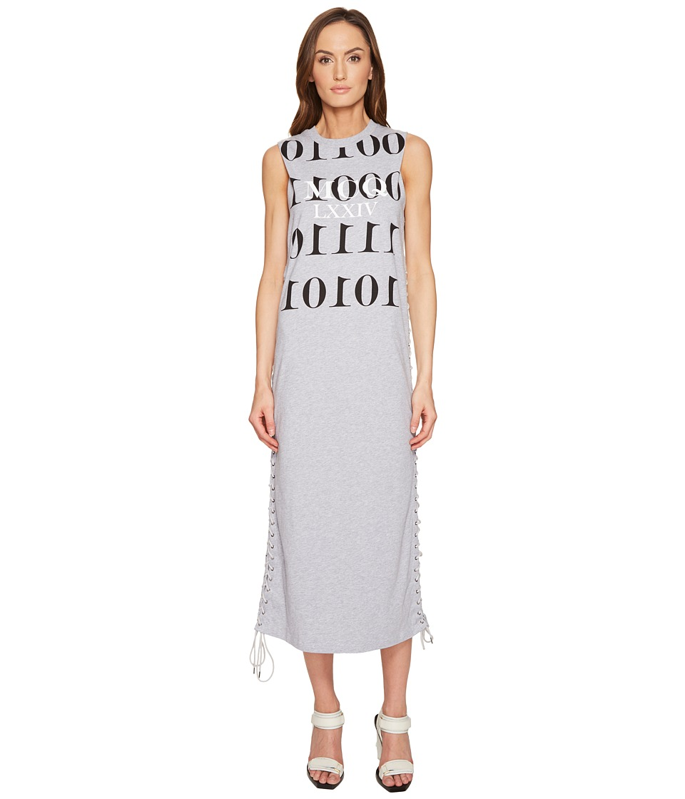 McQ - Eyelet Tank Dress (Cloud Grey Melange) Women's Dress