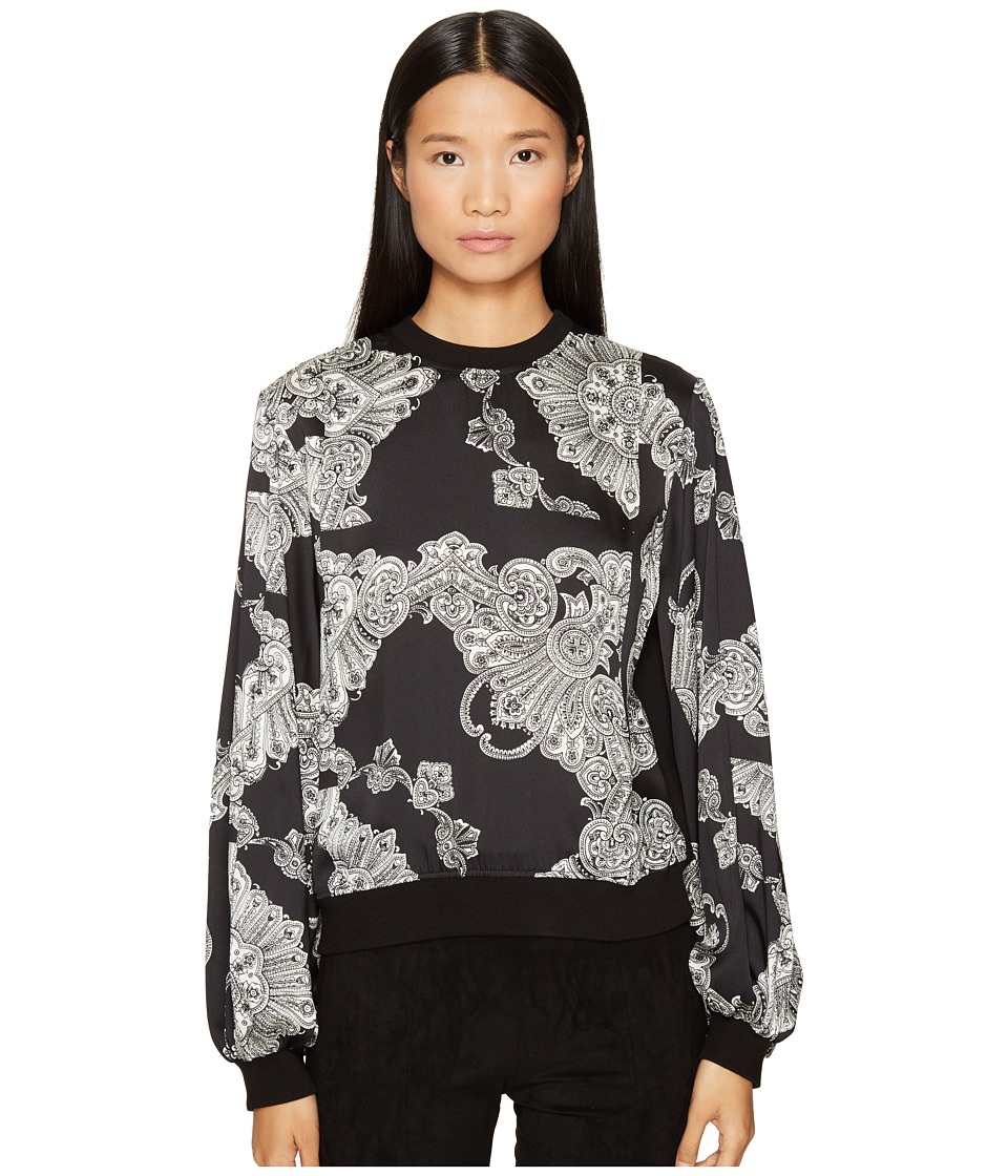 McQ - Volume Sleeves Sweatshirt (Darkest Black) Women's Sweatshirt
