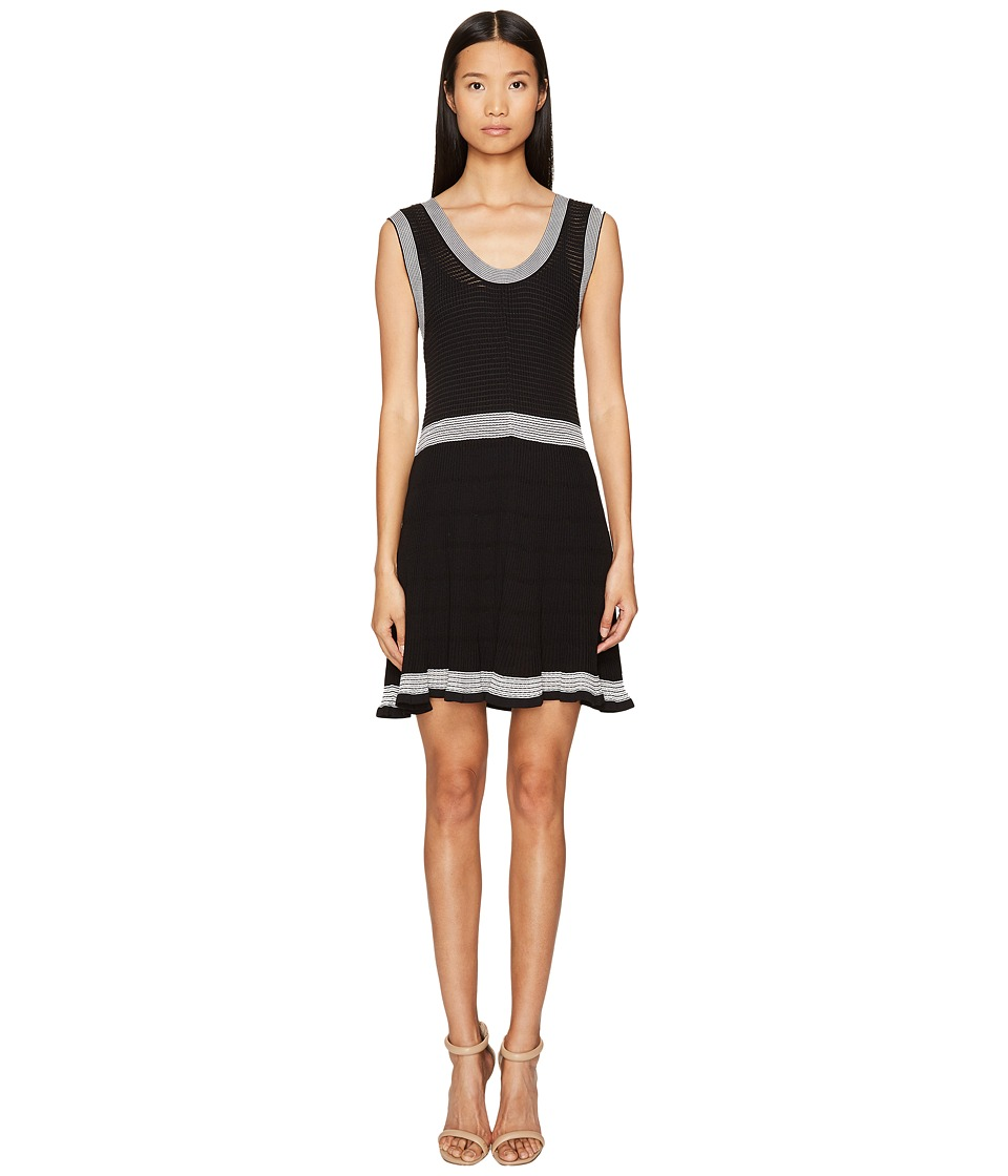 McQ - Rib Stripe Dress (Darkest Black) Women's Dress