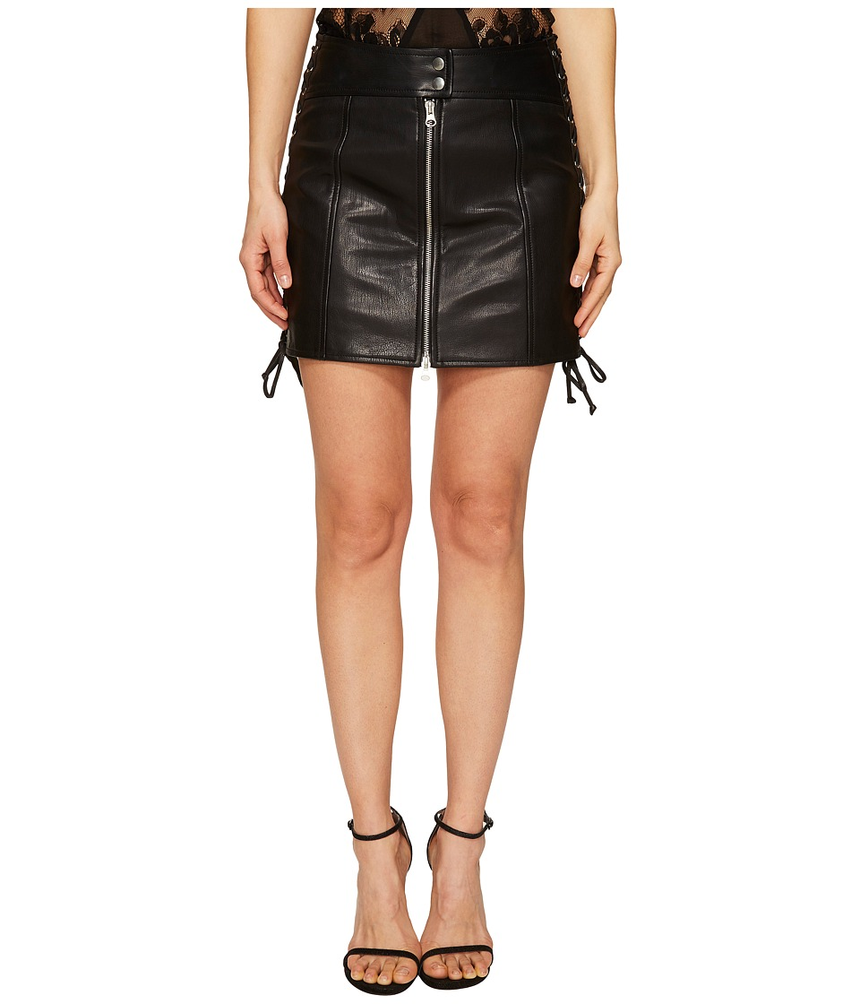 McQ - Eyelet Biker Skirt (Black) Women's Skirt