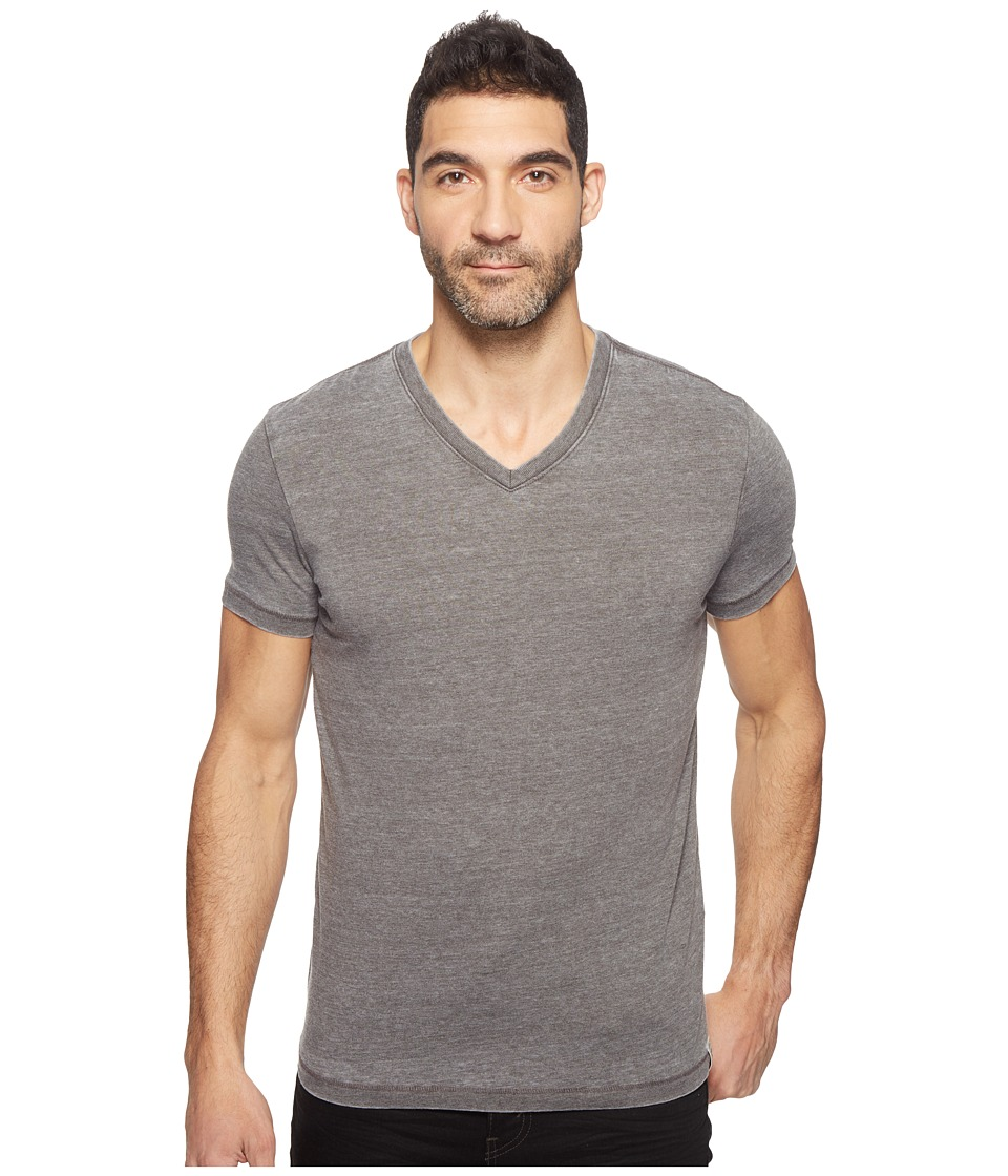 Lucky Brand - Burnout V-Neck Tee (Black Mountain) Men's T Shirt