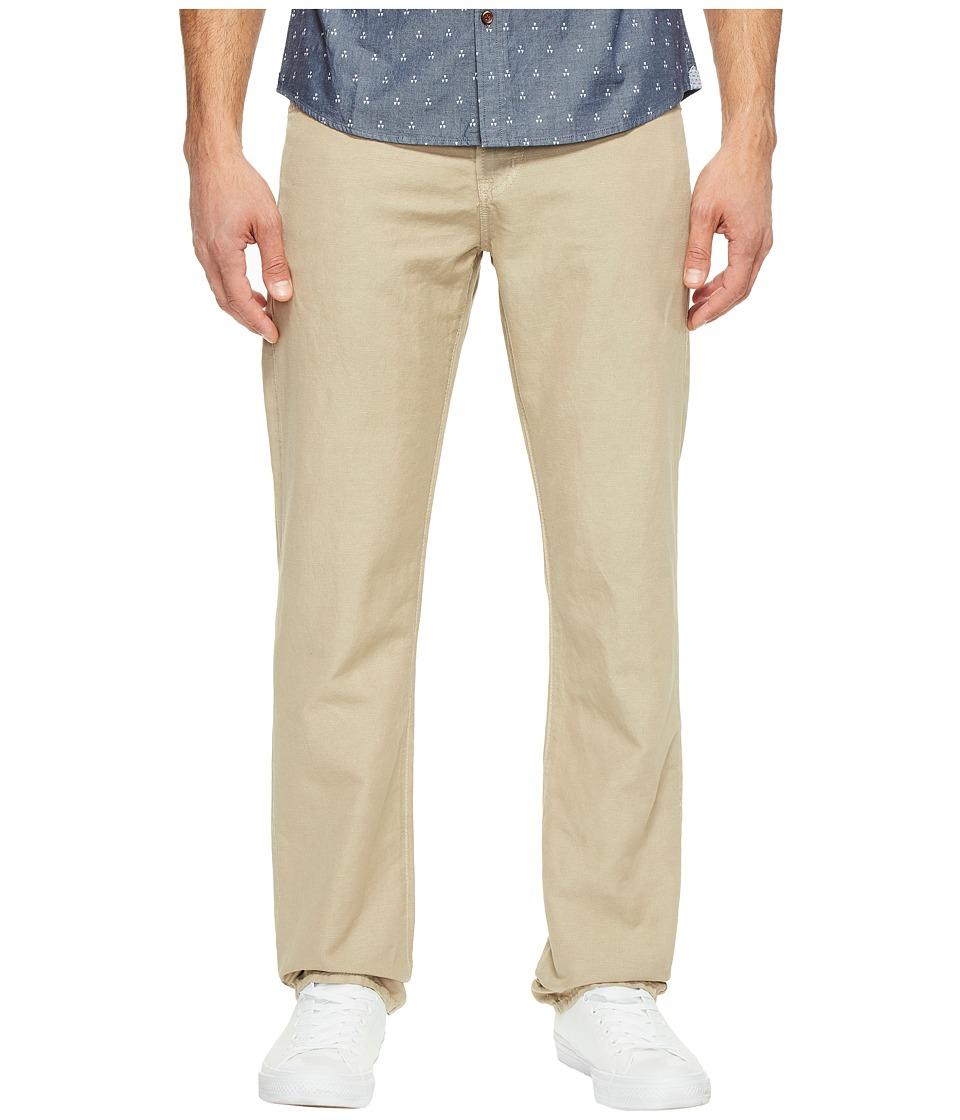 AG Adriano Goldschmied - Graduate Tailored Leg Linen Pants in Sulfur Desert Stone (Sulfur Desert Stone) Men's Casual Pants