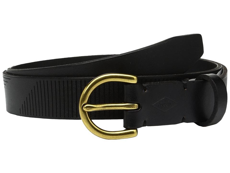 Fossil - Lazered Lines Belt (Black) Women's Belts