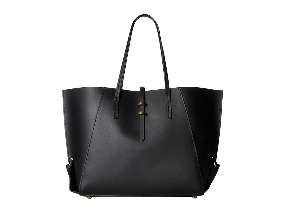 ZAC Zac Posen - Eartha Folded Gusset Shopper (Black) Handbags