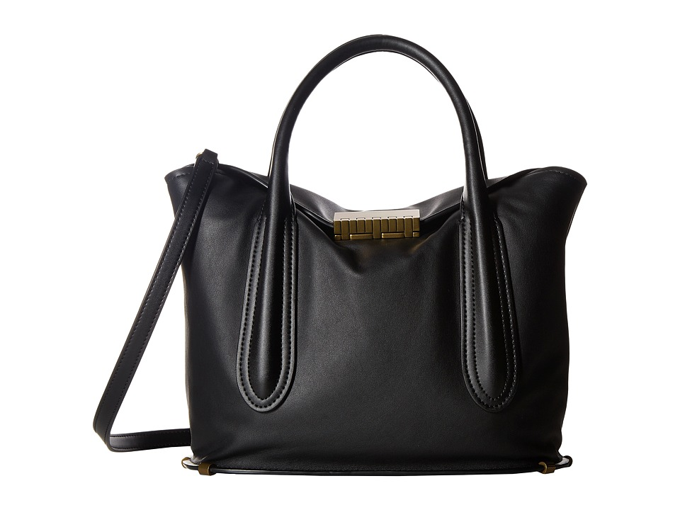 ZAC Zac Posen - Blythe Fold-Over Satchel (Black 1) Satchel Handbags