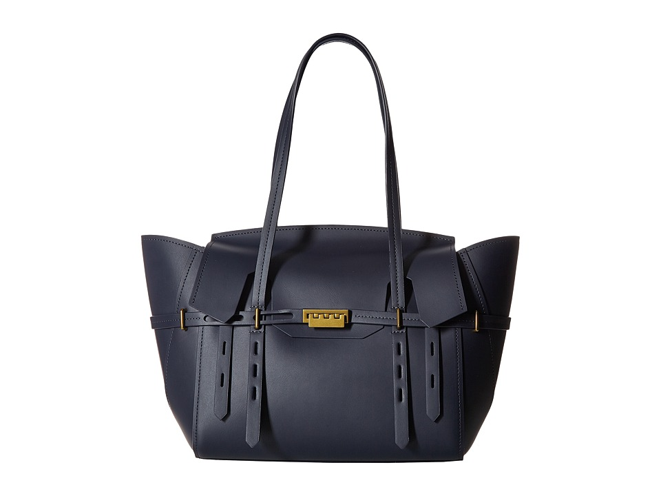 ZAC Zac Posen - Eartha Belted Satchel (Blue) Satchel Handbags
