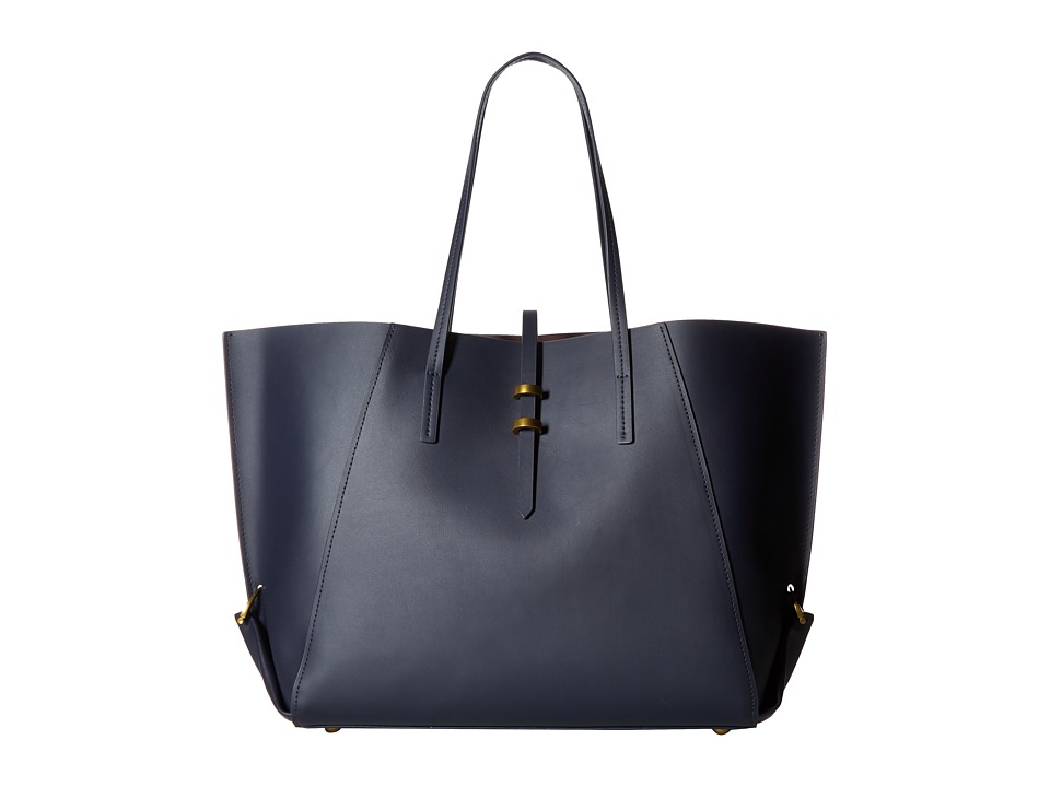 ZAC Zac Posen - Eartha Folded Gusset Shopper (Blue) Handbags