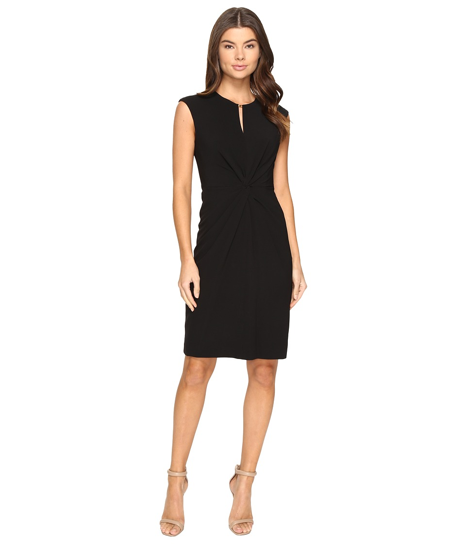 Tahari by ASL - Knot Front Sheath Dress (Black) Women's Dress