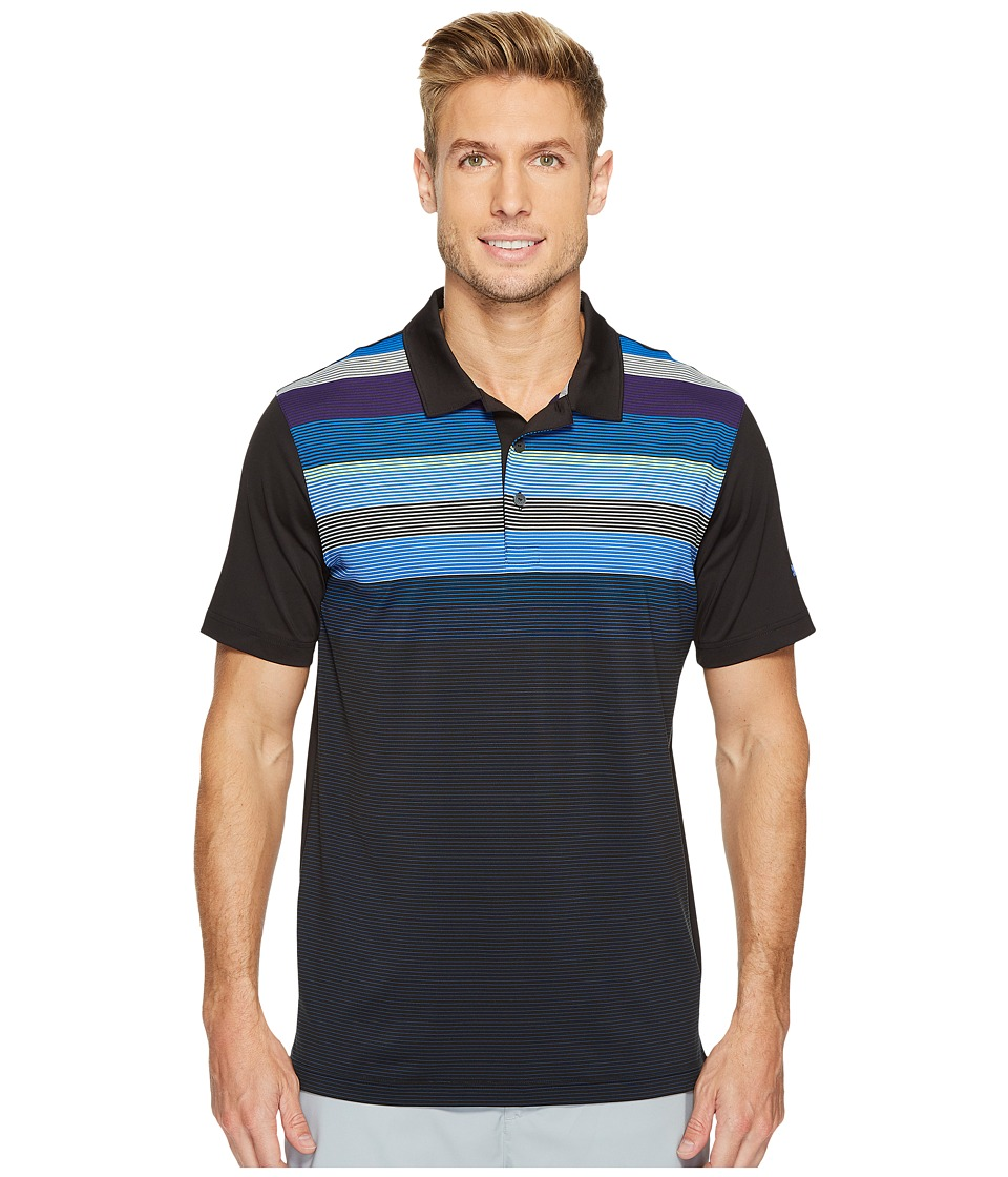 PUMA Golf - Go Time Road Map Polo (Black/Lapis Blue) Men's Short Sleeve Knit